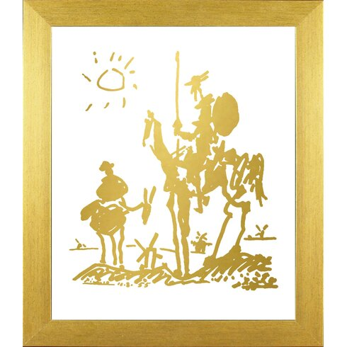Buy Art For Less Famous Painting \'Don Quixote in Chic Gold Imitation ...