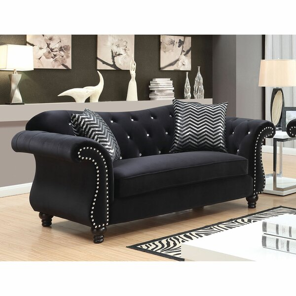 Shop Affordable Javon Chesterfield Loveseat by Rosdorf Park by Rosdorf Park