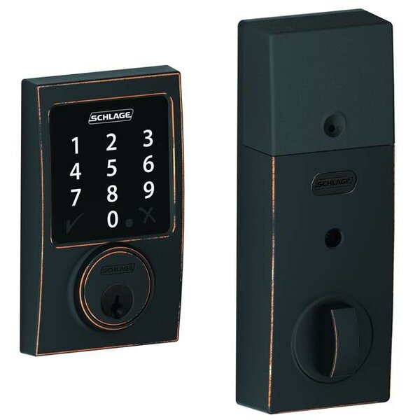 Connect Touchscreen Deadbolt with Century Trim by Schlage