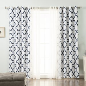 Brockton Damask Blackout Curtain Panels (Set of 2)