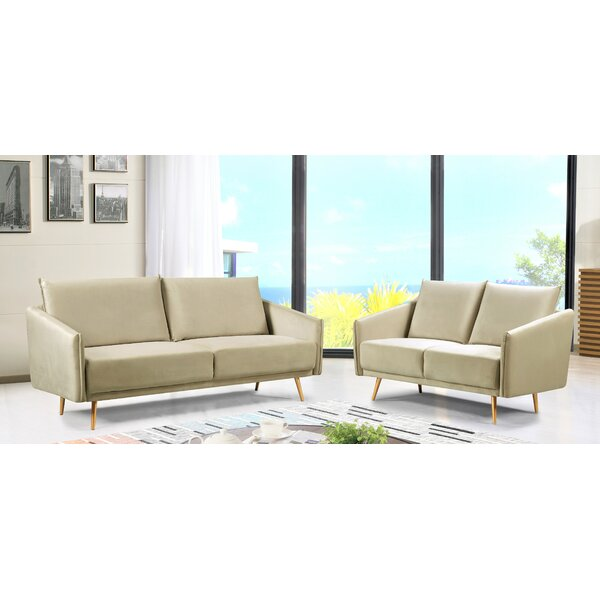 Alaia Luxuriously Velvet Living Room Set by Mercer41