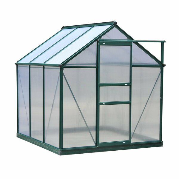 6 Ft. W x 6 Ft. D Greenhouse by Outsunny