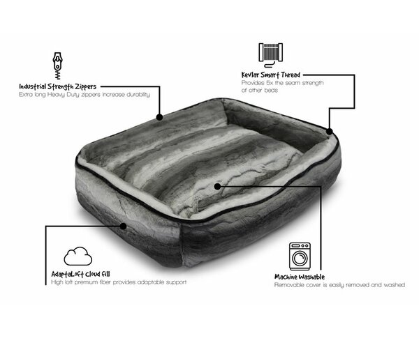 Luxe Pup Arctic Fur Lounger Dog Bolster by Pup IQ