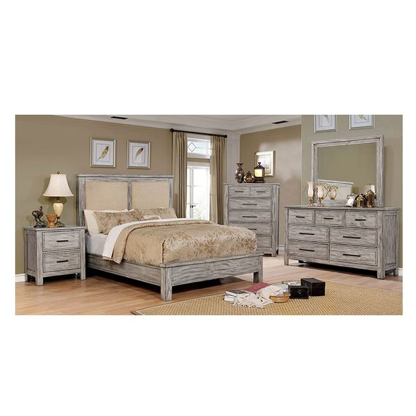 Reynolds Upholstered Panel Bed Configurable Bedroom Set by Loon Peak