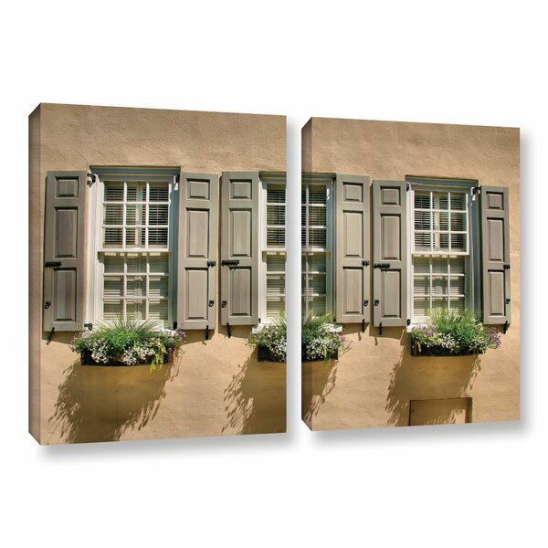 Windows of Old Charleston by Steve Ainsworth 2 Piece Photographic Print on Gallery Wrapped Canvas Set by ArtWall