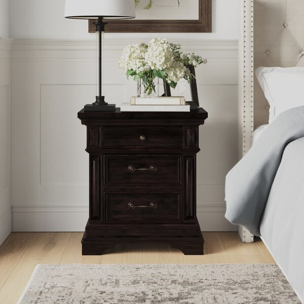 Olander 3 Drawer Nightstand by Birch Lane™ Heritage