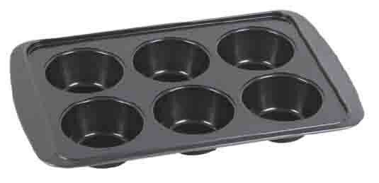 6-Cup Non-Stick Muffin Pan by Home Basics