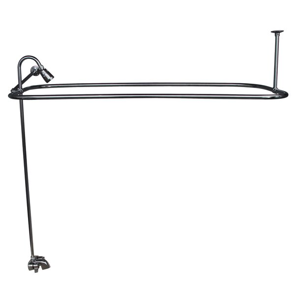 Double Handle Wall Mounted Clawfoot Tub Faucet Trim With Diverter By Barclay