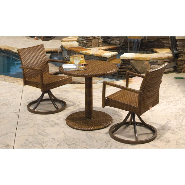 St Barths 3 Piece Bistro Dining Set by Panama Jack Outdoor