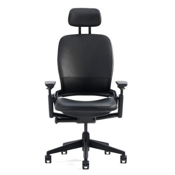 Leap® High-Back Leather Desk Chair by Steelcase