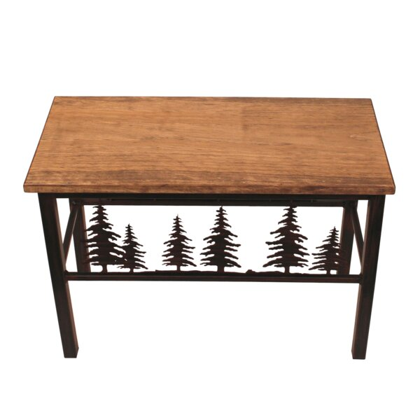 Holden Feather Tree Scene Wood/Metal Bench by Millwood Pines
