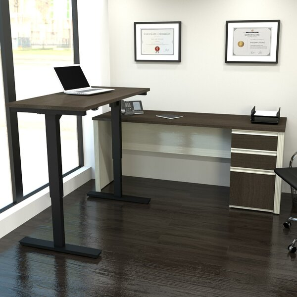 Bormann Workstation Desk with Table by Red Barrel Studio