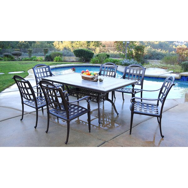 Falkner 7 Piece Dining Set by August Grove