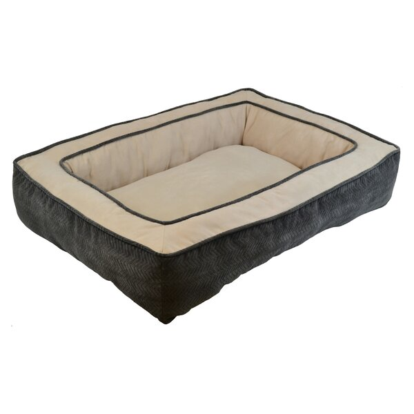 Maryann Chenille Gusset Low Bumper Floor Bolster Dog Bed by Tucker Murphy Pet