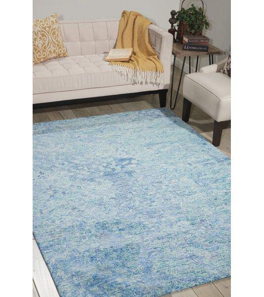 Nyssa Hand-Tufted Blue Area Rug by Brayden Studio