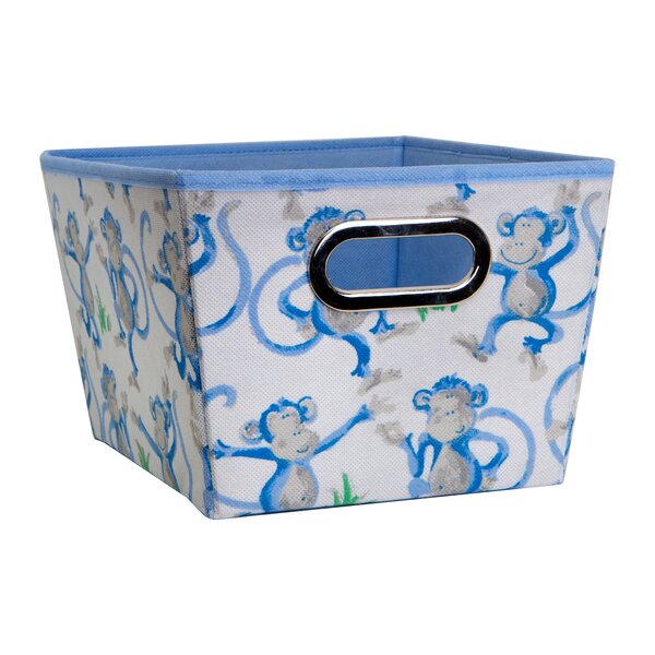 Cheeky Monkey Fabric Cube or Bin by Laura Ashley Home