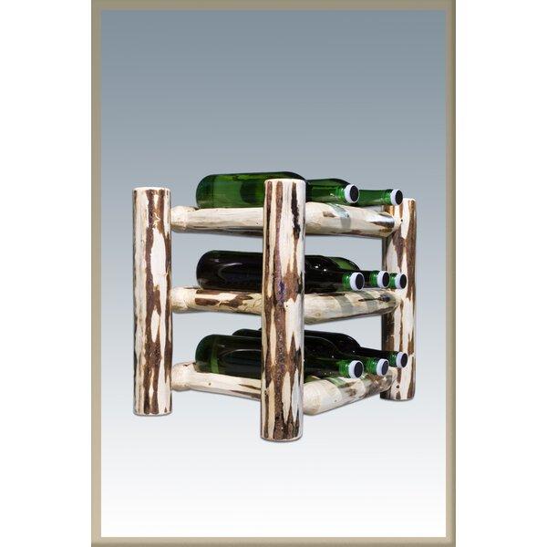 Tustin 9 Bottle Tabletop Wine Rack by Loon Peak