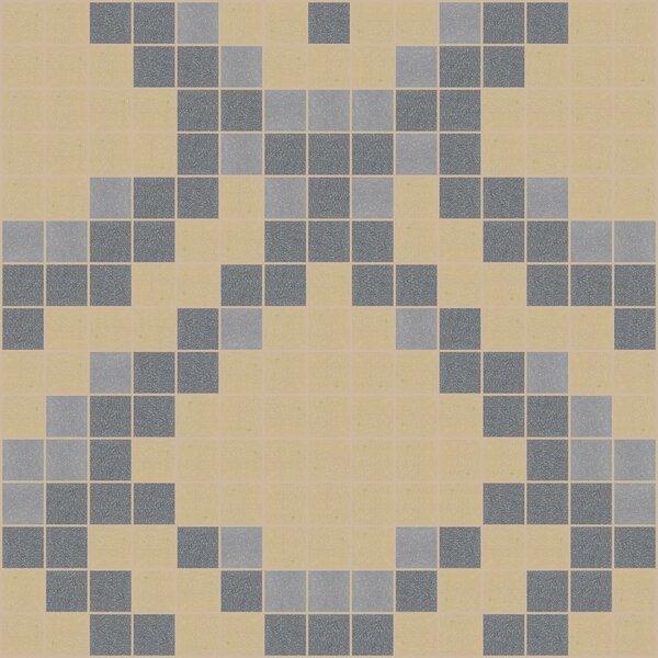 Urban Essentials Subtle Scales 3/4 x 3/4 Glass Glossy Mosaic in Urban Khaki by Mosaic Loft