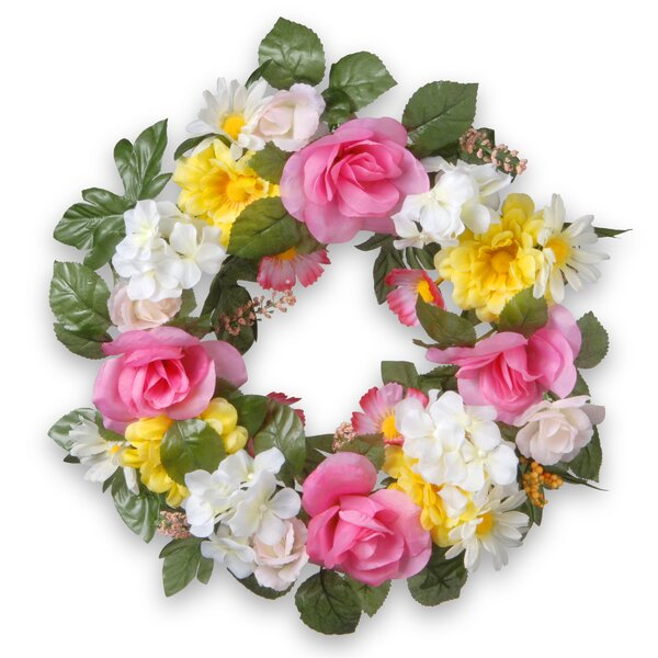 18 Fabric Floral Wreath by National Tree Co.
