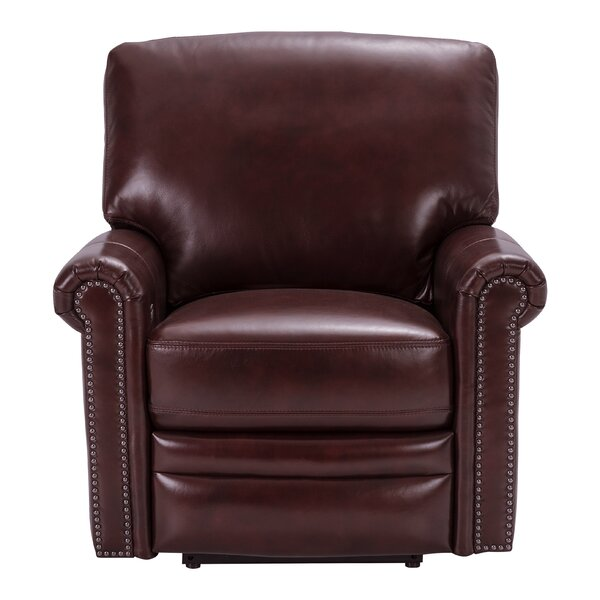 Barris Leather Power Wall Hugger Recliner by Canora Grey Canora Grey