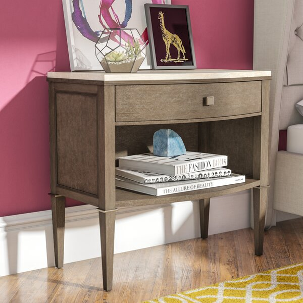 Albright 1 Drawer Nightstand by Everly Quinn