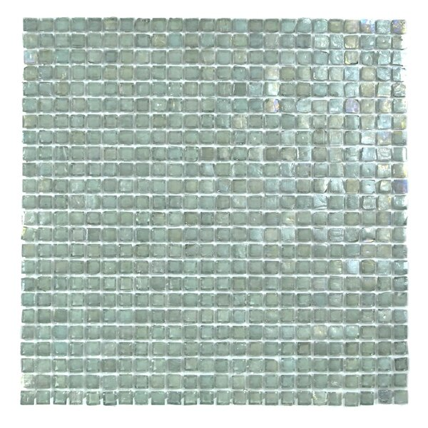 Classic Recycled 12.88 x 12.88 Glass Mosaic Tile in Sea Weed by Abolos