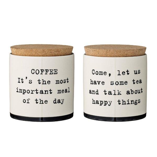 Ceramic Jar 2 Piece Coffee, Tea, & Sugar Set by Bungalow Rose