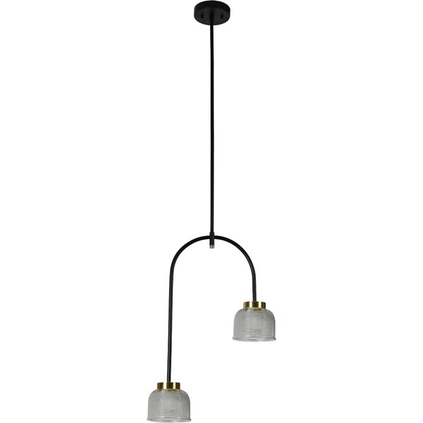 Bedell 2 - Light Unique Geometric Chandelier by Everly Quinn Everly Quinn