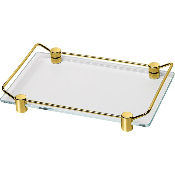 Mariani Countertop Glass Bathroom Accessory Tray by Latitude Run