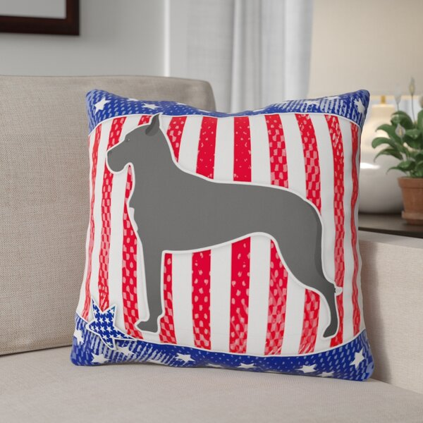 Patriotic Neutral Fabric Indoor/Outdoor Throw Pillow by The Holiday Aisle
