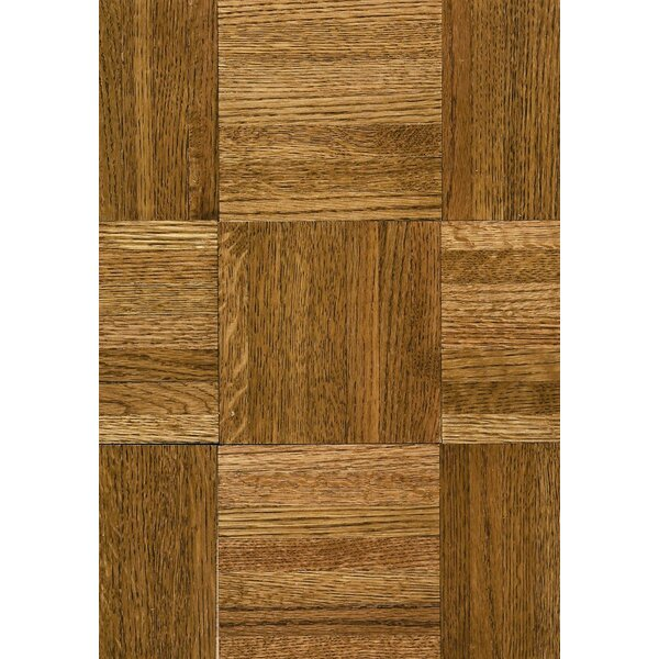 Flortile 12 Solid Oak Parquet Hardwood Flooring in