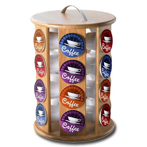 Modern Home Bamboo Keurig K-Cup Coffee Pod Carousel by Vandue Corporation