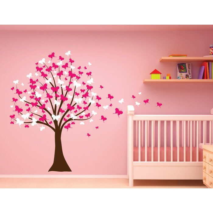Erfly Cherry Blossom Tree Baby Nursery Wall Decal