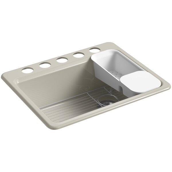 Riverby 27 L x 22 W Undermount Single Bowl Kitchen Sink by Kohler