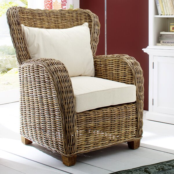 Leverett Patio Chair with Cushions by Rosecliff Heights