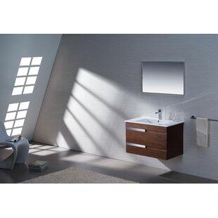 Yasmine 32 Single Bathroom Vanity Set with Mirror By Adornus
