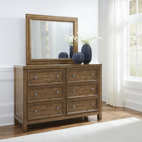 Milford 6 Drawer Double Dresser with Mirror by Canora Grey