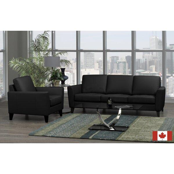 Brunet 2 Piece Leather Living Room Set by Brayden Studio