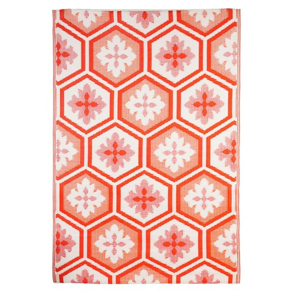 Flatweave Salmon Indoor/Outdoor Area Rug