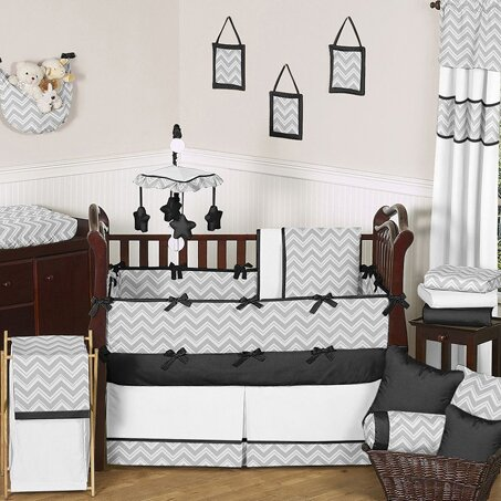 Zig Zag 9 Piece Crib Bedding Set by Sweet Jojo Designs