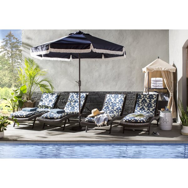 Noelle Sun Lounger Set with Table by Wade Logan