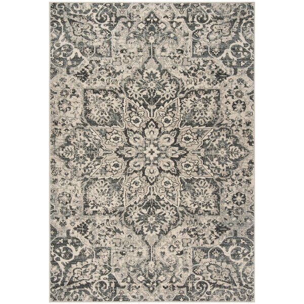 Manton Gray/Ivory Area Rug by Bloomsbury Market