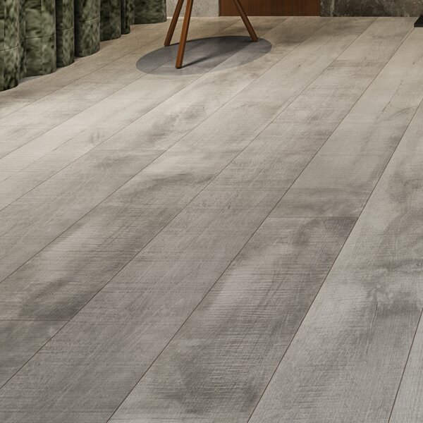 Summa 6.5 x 48 x 12mm Oak Laminate Flooring in Intrepid Nickel by Montserrat