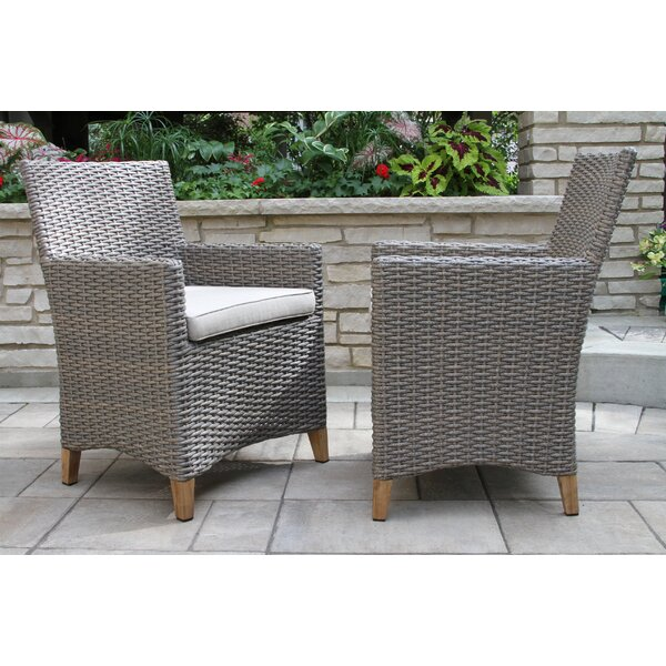 Marcel Teak Patio Dining Chair (Set of 2) by Gracie Oaks