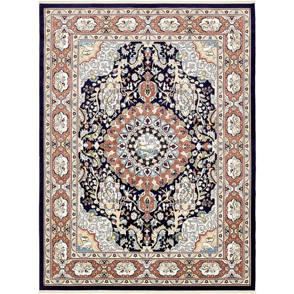 Courtright Navy Blue/Tan Area Rug by Charlton Home