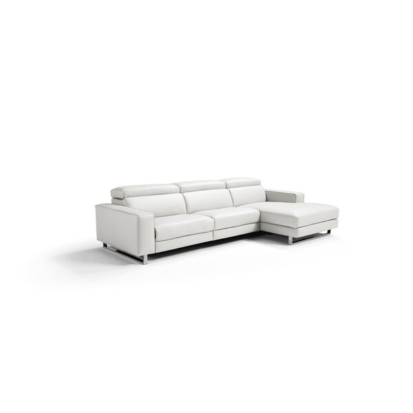 #2 Sania Leather Sectional By Orren Ellis Great Reviews
