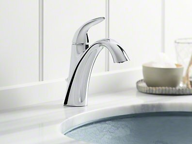 Alteo Single-Handle Bathroom Sink Faucet with Optional Pop-Up Drain Assembly by Kohler