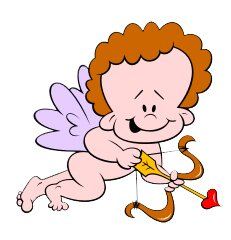 Valentines Cupid I Cutout Wall Decal by Wallhogs