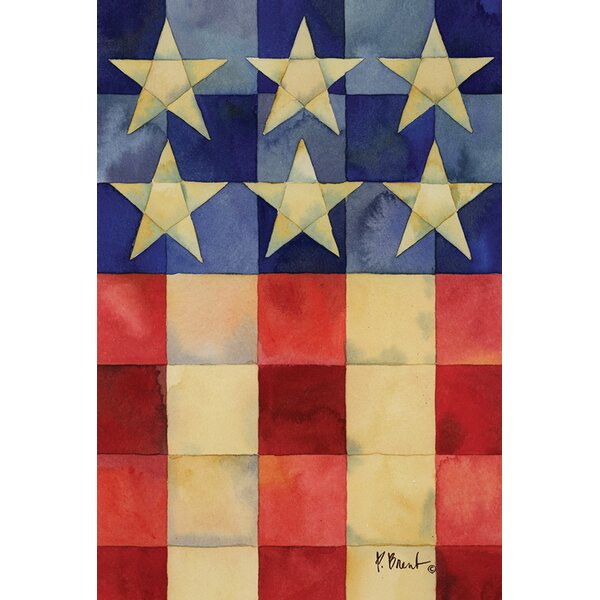 Stars and Stripes On Squares 2-Sided Garden flag by Toland Home Garden