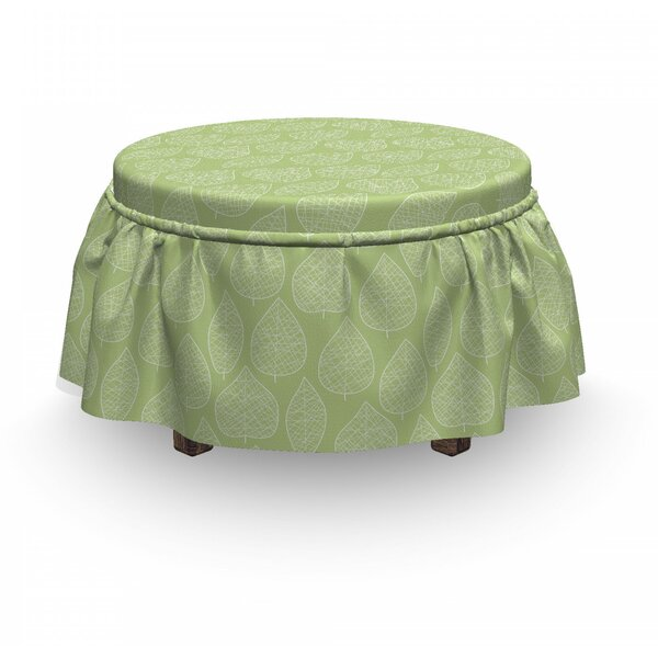 Discount Leaves Ottoman Slipcover (Set Of 2)